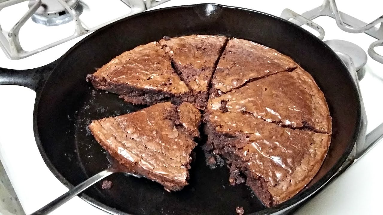 Cast iron cooking brownie recipe