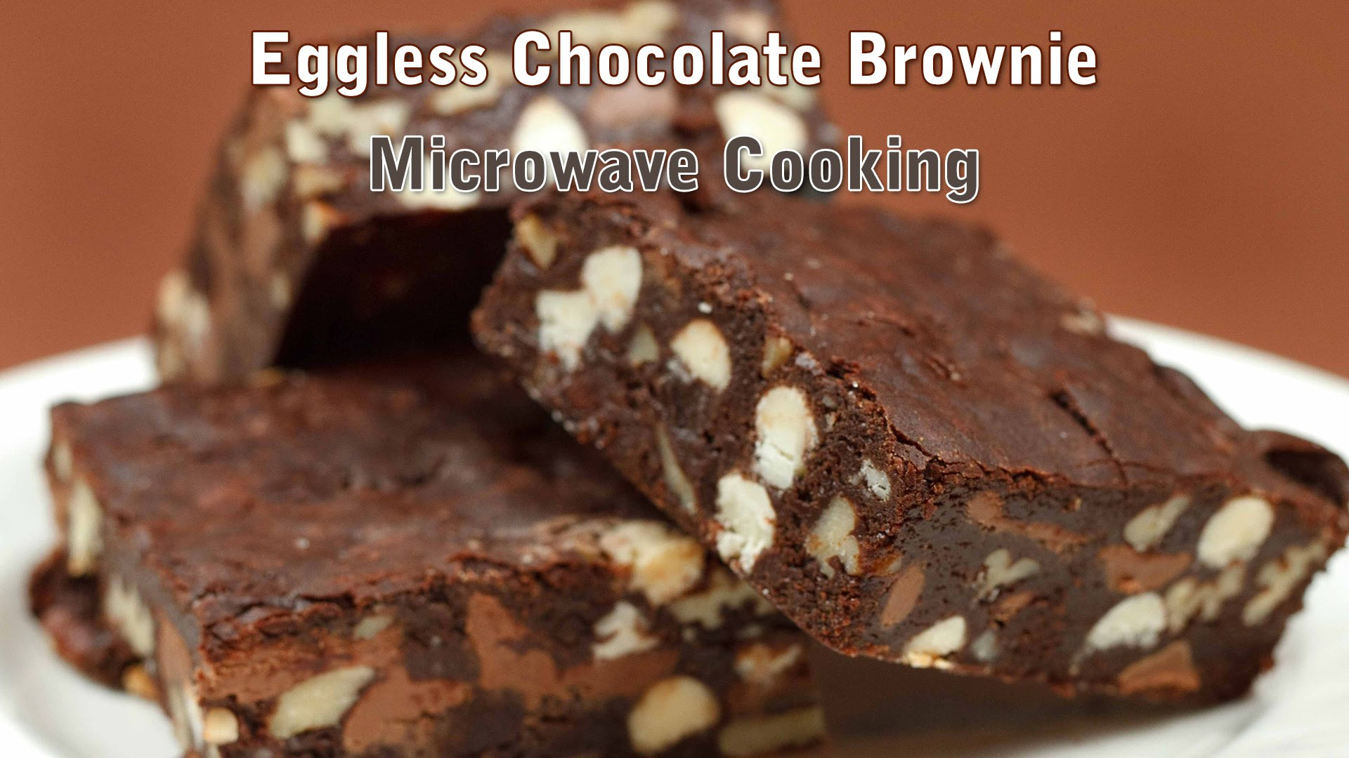 Chocolate Brownie Recipe | Eggless Chocolate Walnut ...
