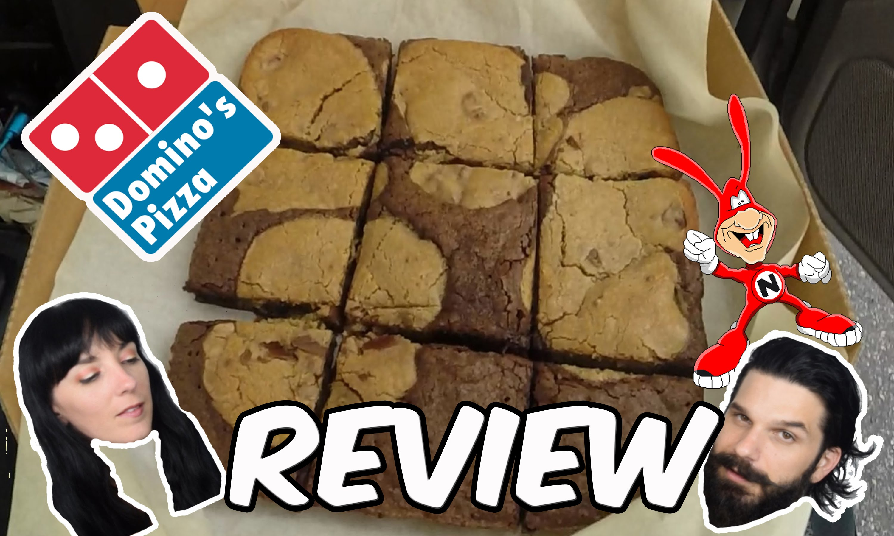 dominos   new marbled cookie brownie   review